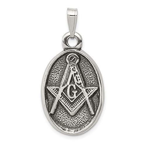 925 Sterling Silver Masonic Freemason Mason Pendant Charm Necklace Career Professional Man Fine Jewelry Gift For Dad Mens For Him