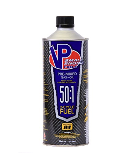 VP Small Engine Fuels 6238 Ethanol-Free 50:1 2-Cycle Gas+Oil - 1 quart, Pack of 8 ()