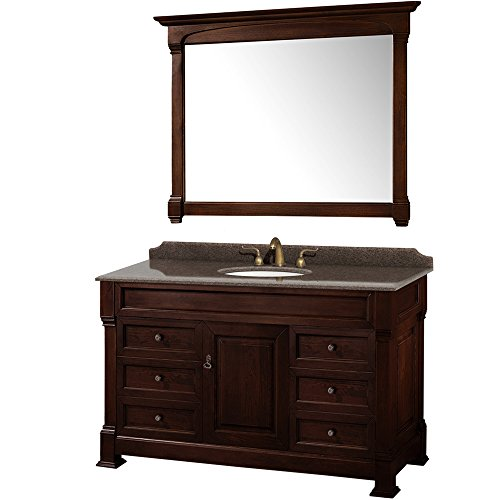 Wyndham Cherry (Wyndham Collection WCVTRAS55SDCIBUNOM50 Andover Vanity, Dark Cherry)