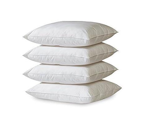 Or étoile 4x Polyester Coussin Lavable à 30° | Blanc | coutil de remplissage pour oreillers, canapé, coussin décoratif, Non-tissé, Weiß, 40 x 40 cm GOLD STERN