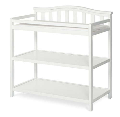 Child Craft Arched Top Changing Table with Pad, Matte White by Child Craft