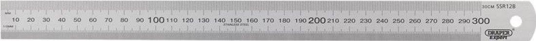 Draper 22671 300mm 12 Stainless Steel Rule