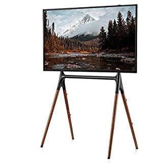 EleTab Easel TV Stand for 49 to 70 inch LED LCD Screen Portable Stable Floor TV Stand with 4 Legs