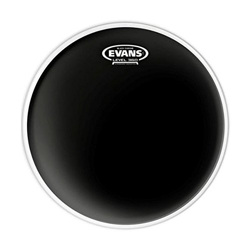 Evans Black Chrome Drum Head, 12 Inch - TT12CHR