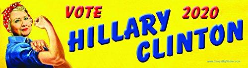Hillary Clinton Bumper Sticker (Vote Hillary Clinton 2020 Rosie the Riveter Style Bumper)