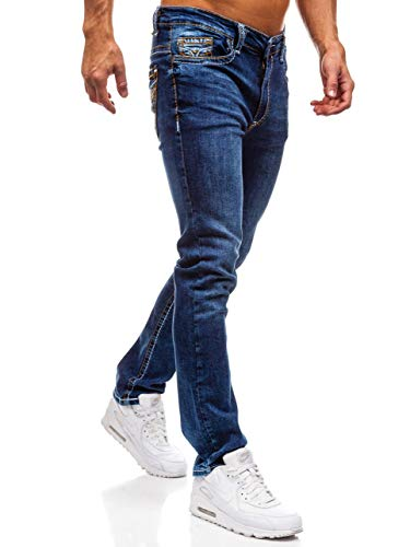 702 Fit Estilo Clubwear Hombre Pantalón Oscuro Marrón Vaquero 6F6 Y Slim Diario BOLF Azul AOwqC