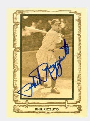 Phil Rizzuto AUTOGRAPH d.07 1980-83 Cramer Baseball Legends