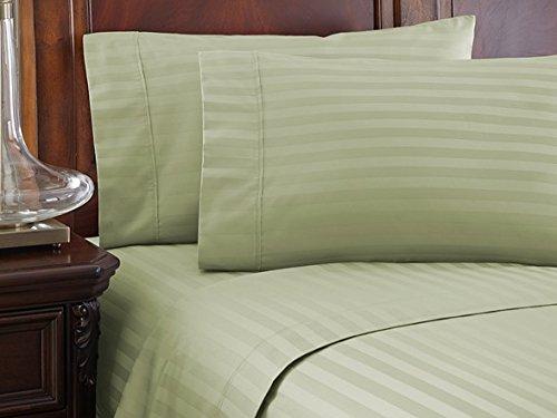 Sleeper Full Microfiber - Lavish Linens 1800 Series Microfiber- Sleeper Sofa Sheet Set Stripe, Sage, Full Size (54