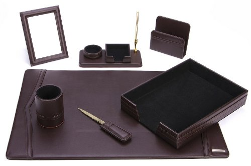 Office Supply Eco-Friendly Leather Desk Set (93-DSN7) by Office Supply