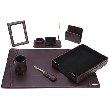 bonded leather desk set 6 piece pink. Office Supply Eco-Friendly Leather Desk Set (93-DSN7) Bonded 6 Piece Pink