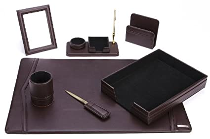 Office Supply Eco Friendly Leather Desk Set (93 DSN7)