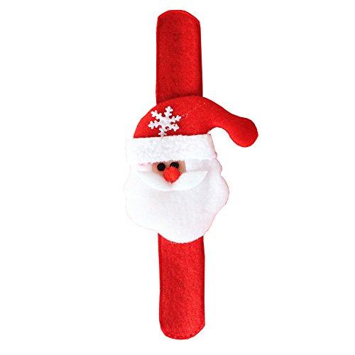Aland Christmas Snap Slap on Santa Claus Snowman Reindeer Bear Wristband Bracelet Santa Claus