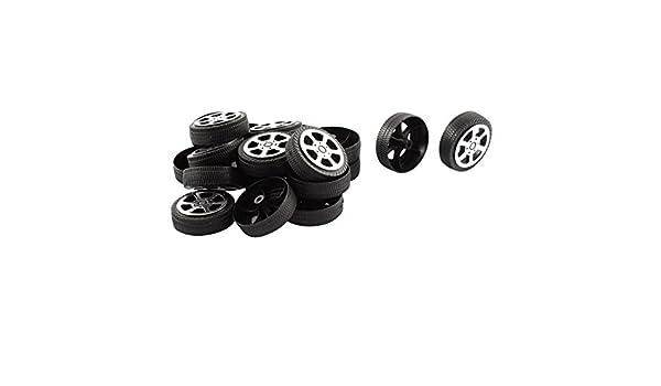 Amazon.com : Rollo de plástico DE 2 mm de diámetro del eje del coche camión Modelo Juguetes de ruedas 20Pcs 30mmx9mm : Baby