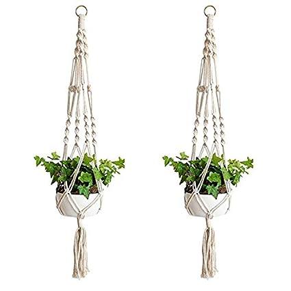 Amazon.com: LAAT 2PC Creative Plant Hanger Natural Jute Hemp ...