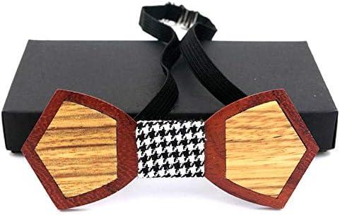 Pajarita para hombre Caja de corbata de madera a juego de madera a ...