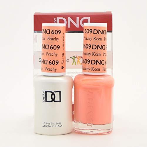 DND DAISY GEL UV NAIL POLISH - DUO SET(Gel + Lacquer) 609 - Peachy Keen