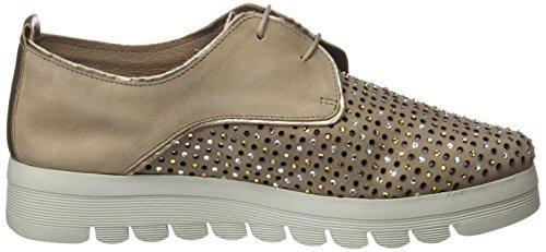 10 Cordones De Oxford 24 23574 Horas Mujer Para taupe Beige Zapatos xItIqAfwv
