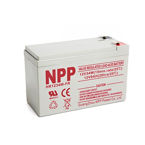 NPP HR1234W FR 12V 34W 12Volt 9Amp High Rate Long Life Rechargeable Sealed Lead Acid UPS Battery ()