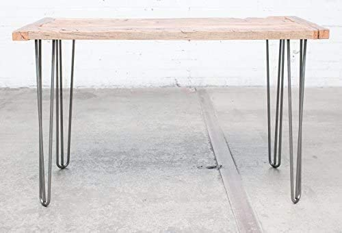 "Industrial Modern 3 Rods Raw Iron Legs DIY Coffee Table Legs Dresser Legs Hairpin Table Legs 12/"" 4 Pack Matte Black Heavy Duty Metal Furniture Legs"