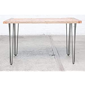 """Industrial By Design - 28"""" Hairpin Furniture Legs - Desk, Coffee, Console, Side, Dining Table, Nightstand - (Silver) Mid…"""