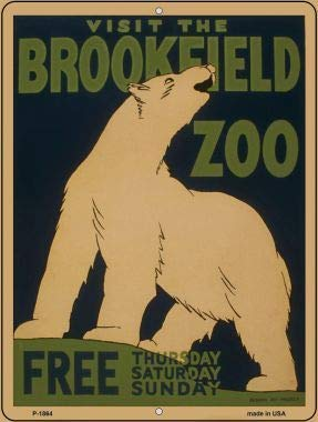 Bargain World Visit Brookfield Zoo Vintage Poster Parking Sign (Sticky Notes) (Visit Brookfield Zoo)
