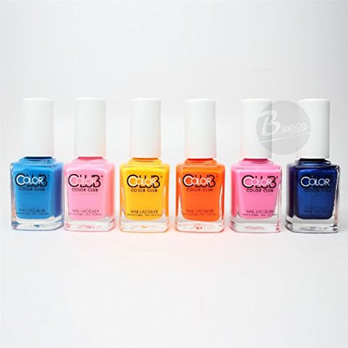 Color Club Poptastic Pastel Neon Collection Lacquer Set of 6 Color AN14 - AN19