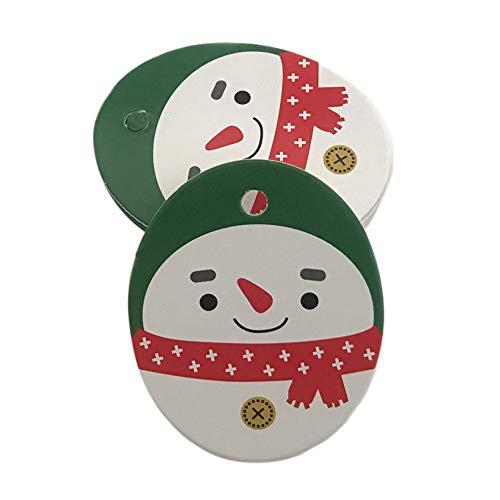 (Hot Sale!DEESEE(TM)50Pcs Santa Claus Christmas Tag Candy Bag Decoration Gift Hang Tags (D))