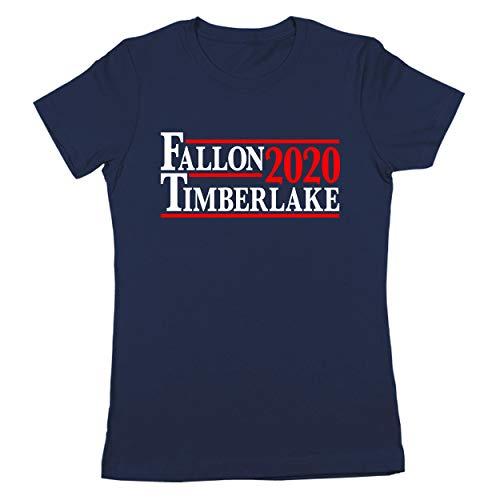 Donkey Tees Fallon Timberlake 2020 U.S. Presidential Election Funny Womens Shirt Medium Navy (Late Night With Jimmy Fallon T Shirt)