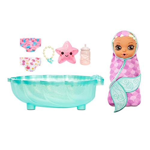 Baby Born Surprise Mermaid Surprise – Baby Doll with Purple Towel and 20+ Surprises, Multicolored