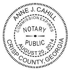 New Imprue Round Self Inking Notary Seal Rubber Stamp Georgia