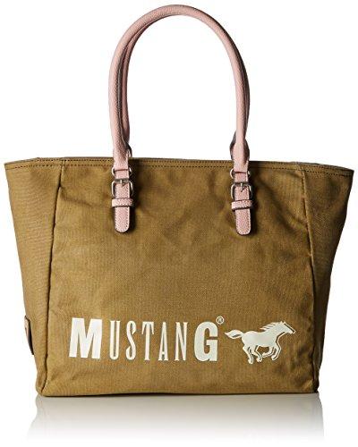 Mustang Wayne Taylor Shopper Xlhz, Women's Tote, Green (Khaki), 17x32x48 cm (B x H T)