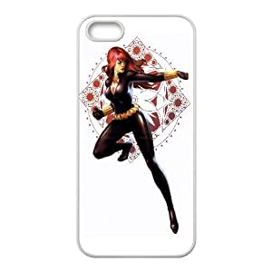 Black Widow Comic iPhone 4 4s Cell Phone Case White Decoration pjz003-3813096