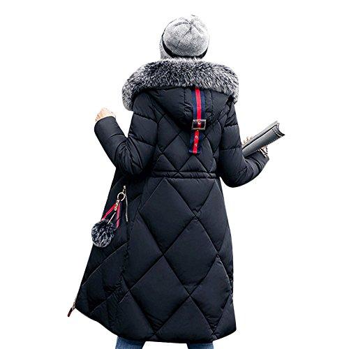 Lined Petite Coat - Gamery Women Winter Long Parkas Coat Jackets With Faux Fur Hood Black L