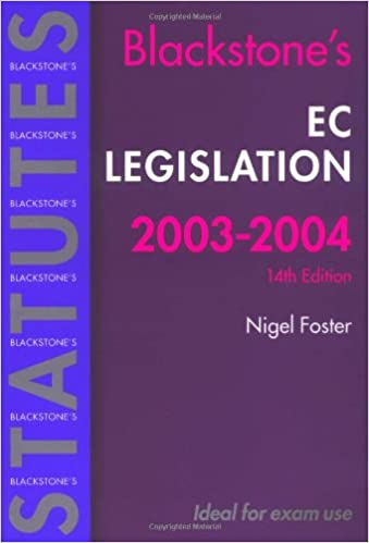 Blackstones EC Legislation 2003//2004