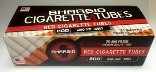 Shargio Cigarette Tubes King Full Flavor 50ct Case- New by Shargio