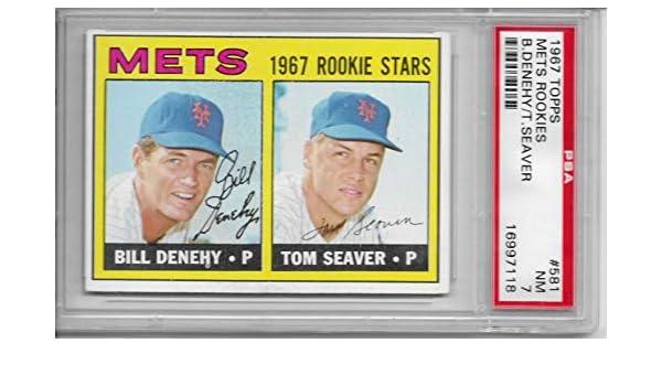 Amazoncom 1967 Topps Tom Seaver Rookie Card 581 Graded Psa 7 Nrmt
