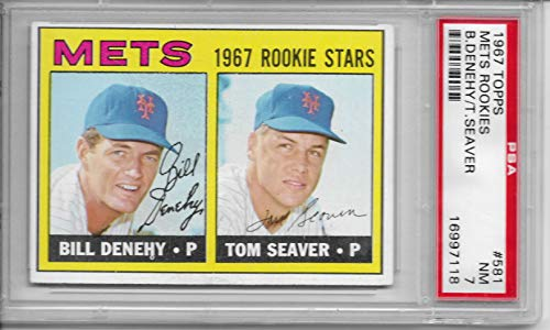 1967 Topps Tom Seaver Rookie Card #581 Graded PSA 7 NRMT