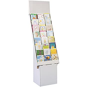 Amazon set of 3 greeting card rack with 8 display tiers set of 3 greeting card rack with 8 display tiers removable header easy m4hsunfo
