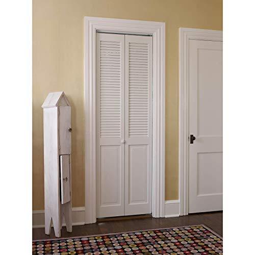 LTL Home Products, Inc. #200 Louver Over Panel Bifold Door Clear Joints 32x80