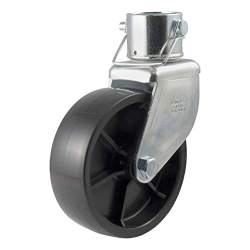 CURT 28276 6-Inch Caster Trailer Jack Wheel Replacement, Fits 2-Inch Tube, 1,200 lbs.