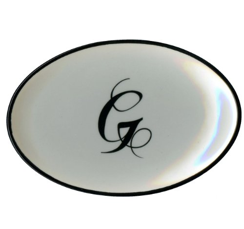 Letter G - Mud Pie Monogram Initial Coin Holder or Soap Dish 257307 5.5x3.75x.75