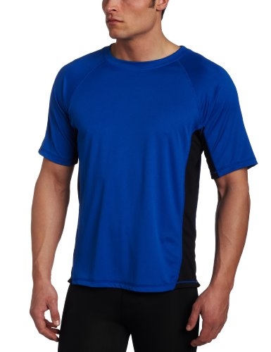 Kanu Surf Men's CB Rashguard UPF 50+ Swim Shirt (Regular & Extended Sizes), Royal, 4X