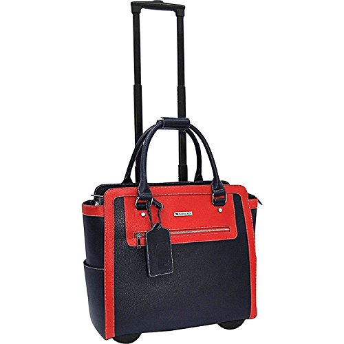 Cabrelli Talula 2 Tone 15.6'' Laptop Rollerbrief Red Navy W/ Bonus Dreams Cosmetic Bag by Cabrelli