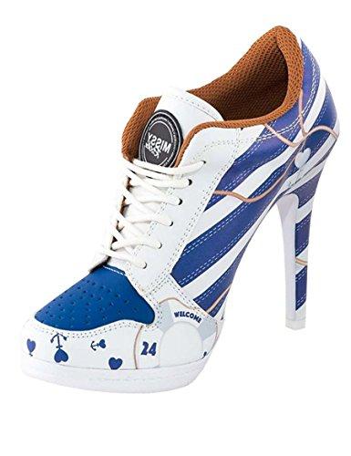 88cab45de15778 MISSY ROCKZ Welcome on Board Sport High Heels Pin up weiß  blau ...