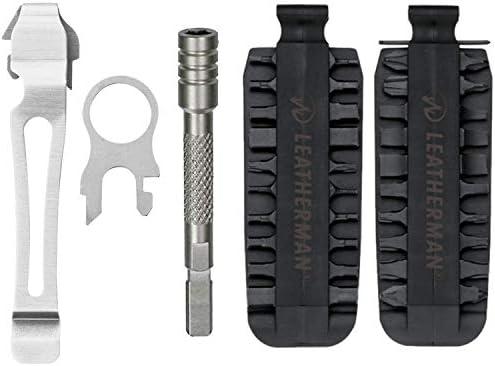 "Large 4.5/"" Black MOLLE Sheath Leatherman 42 Piece Bit Kit Set"