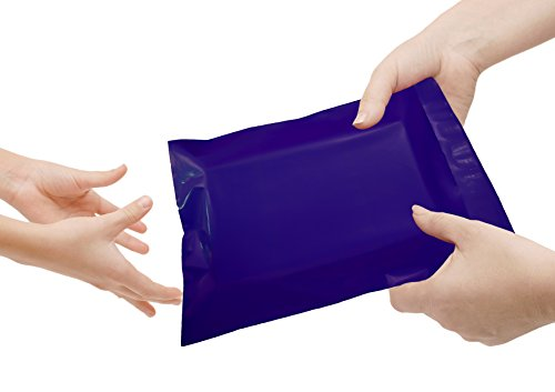 Poly mailers 7.5 x 10.5 Shipping bags 7 1/2 x 10 1/2 by Amiff. Pack of 100 Dark Blue Large envelopes. 2.5 mil thick mailing bags. Peel & Seal. Waterproof & Lightweight. Wrapping & Packing & Packaging. by Amiff (Image #5)