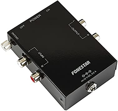FONESTAR - Preamplificador Giradiscos Stereo: Amazon.es: Electrónica