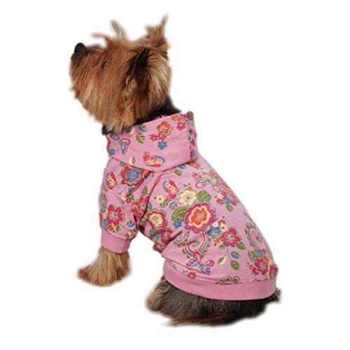 Zack & Zoey UM396 20 75 Spring Garden Pullover for Dogs, Large, Begonia Pink