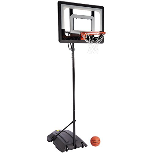 "SKLZ Pro Mini Basketball Hoop System. Adjustable Height 3.5 ft. -7 ft. and 7"" Mini Ball."