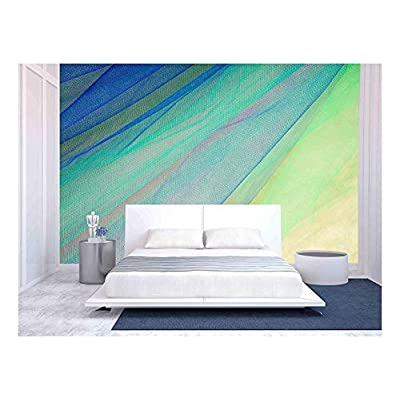 Quality Artwork, Handsome Handicraft, Colorful Tulle on Satin Fabric Background